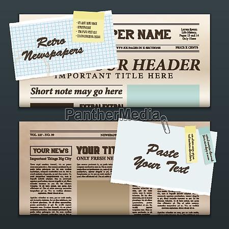 vintage newspapers templates 2 top half