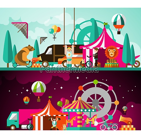 circus entertainment attractions day and night