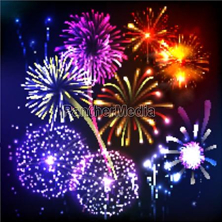fireworks show new year celebration anniversary