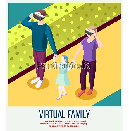 virtual family from actual adults in