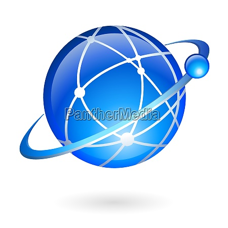 global connection and navigation technology concept