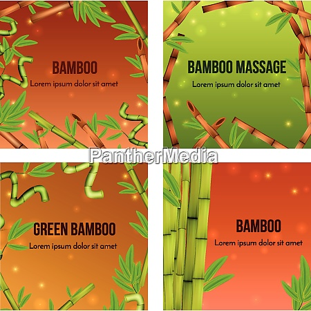 green bamboo realistic natural background 4