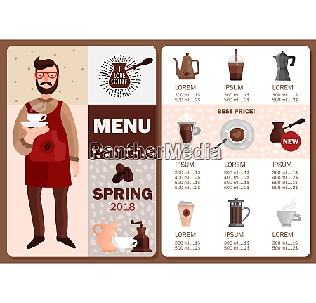 coffee production menu with price and