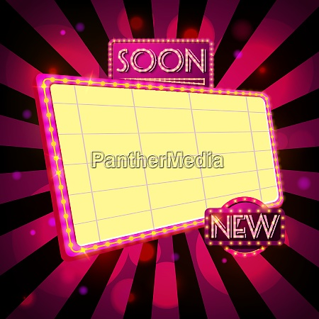 retro billboard ad background template vector