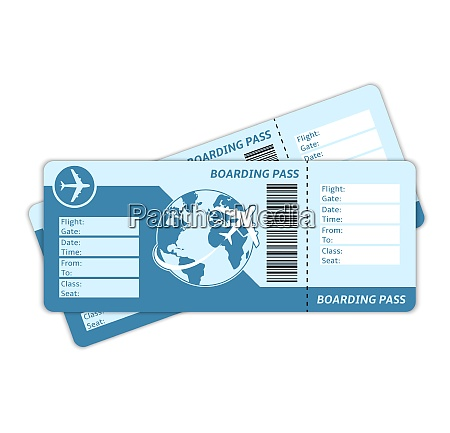 blank plane tickets for business trip
