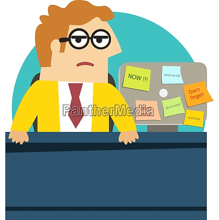 business life worried angry office worker