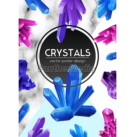 bright violet purple blue crystals on