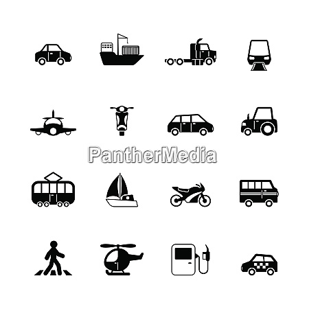transportation pictograms collection of tanker container