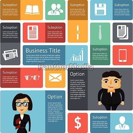 flat business infographics design elements for