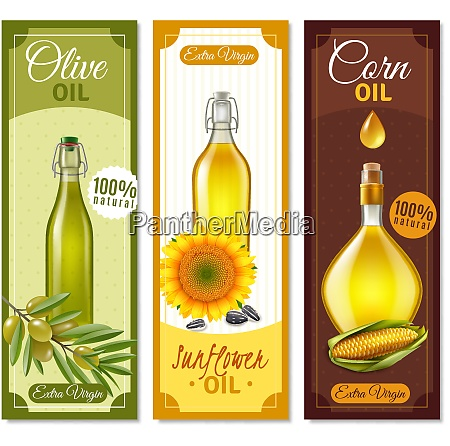 natural product realistic banners set of
