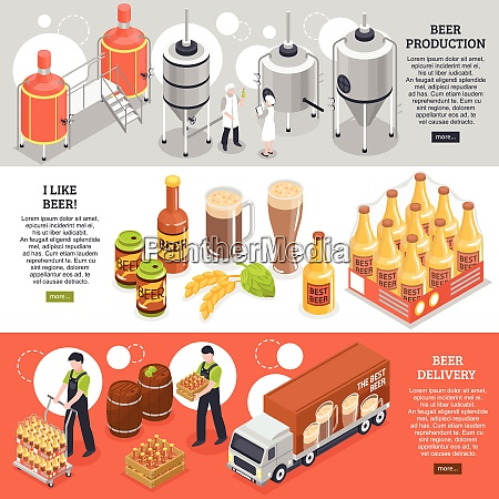 beer production distribution consumption 3 isometric