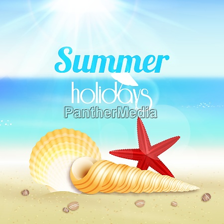 summer holiday vacation travel background poster