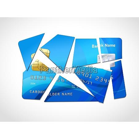 broken credit card default debt bankruptcy