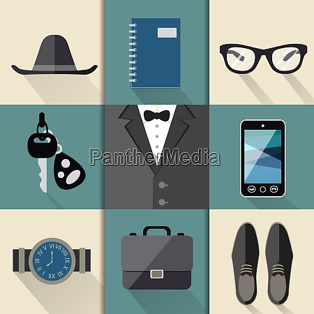 gentleman business suit web design elements