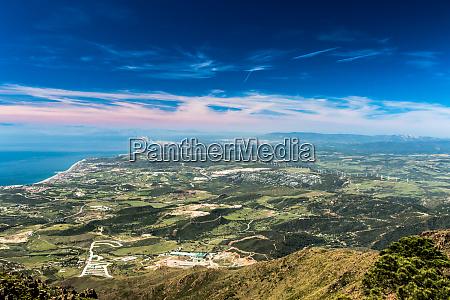 the strait of gibraltar from sierra