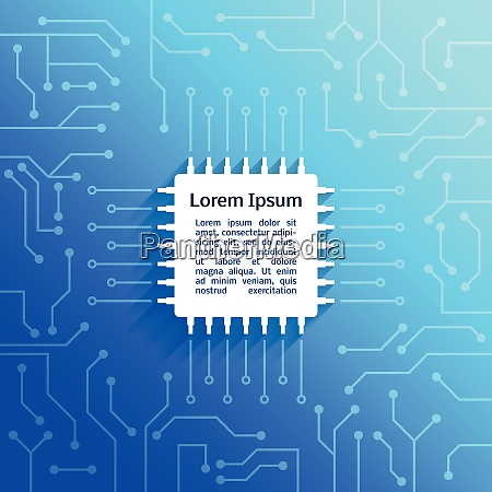 electronic device circuit board bright blue