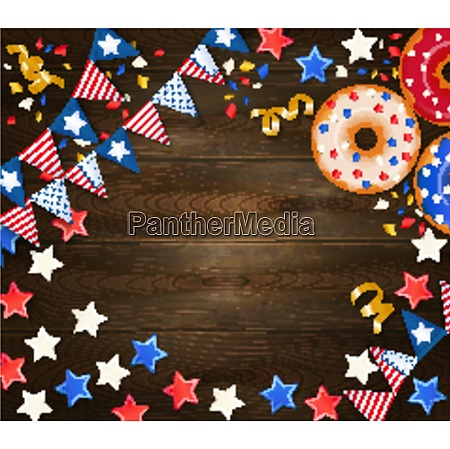 independence day festive wooden background with