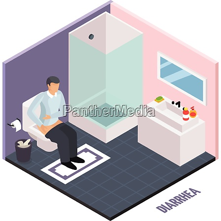 probiotic isometric composition with human character