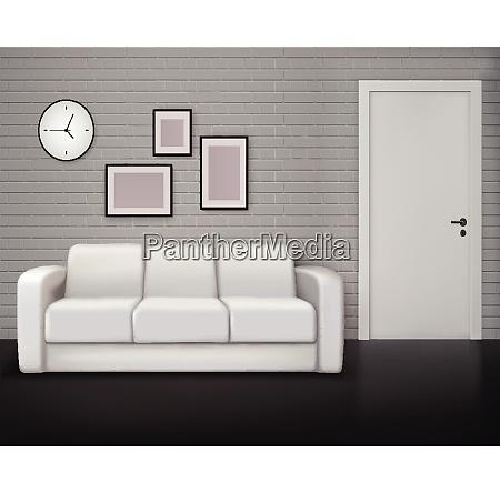 monochrome home interior design with gray