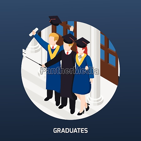 university graduates with diploma in academic