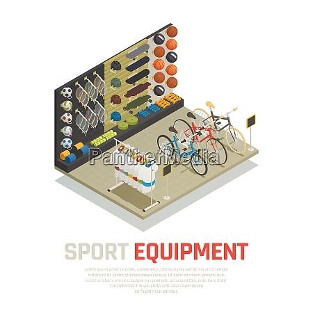 stop shelves with sport equipment tennis