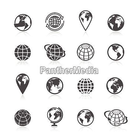 globe black and white earth world