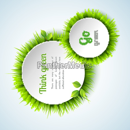go green concept with summer grass