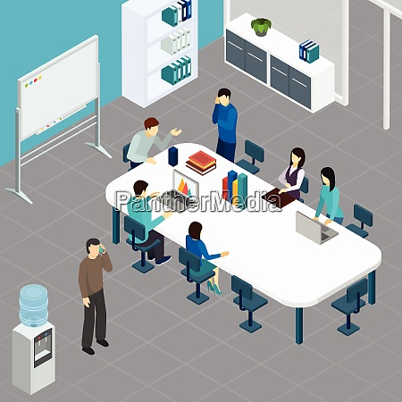 office staff during work meeting at