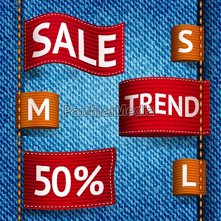 clothing size trend sale colored label