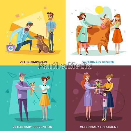 vet doctors design concept with pets
