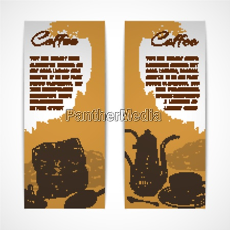 two vertical retro espresso coffee set