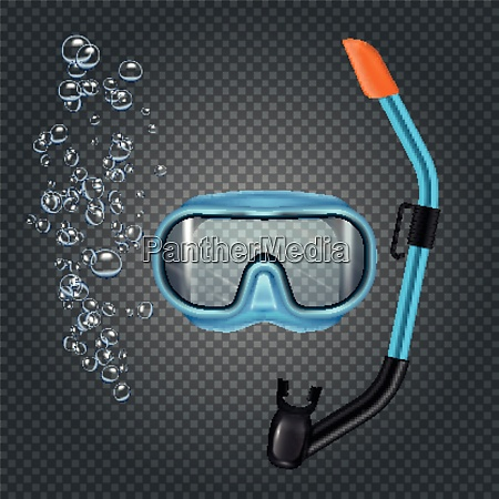 snorkeling set with diving mash and
