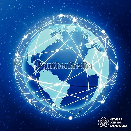 network globe sphere earth map social