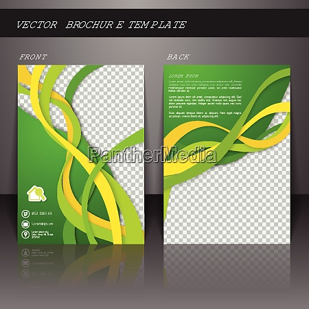 green abstract business corporate design brochure