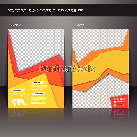 yellow business corporate design brochure flyer