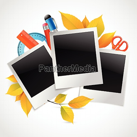 photo frames instant picture black cards