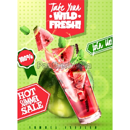 refreshing detox water summer sale with