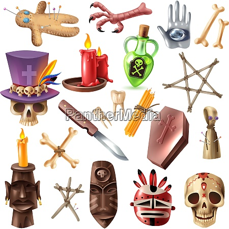 voodoo african occult practices attributes collection