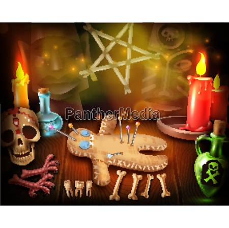 voodoo doll cult religious rituals realistic