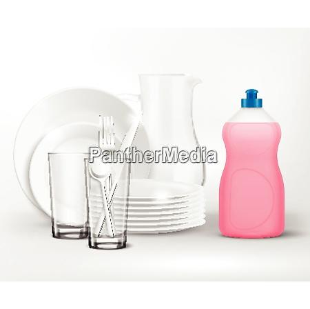 detergent bottle clean dish wash composition