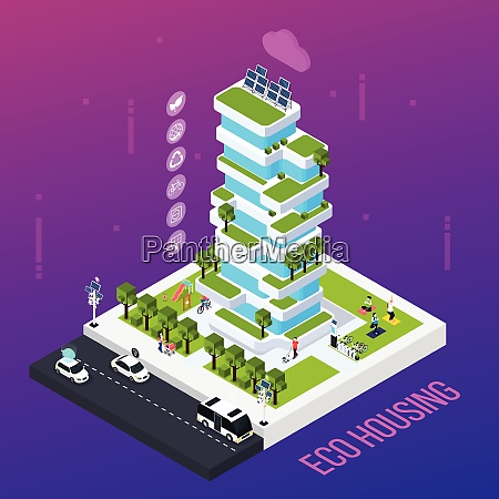 smart city concept with eco housing