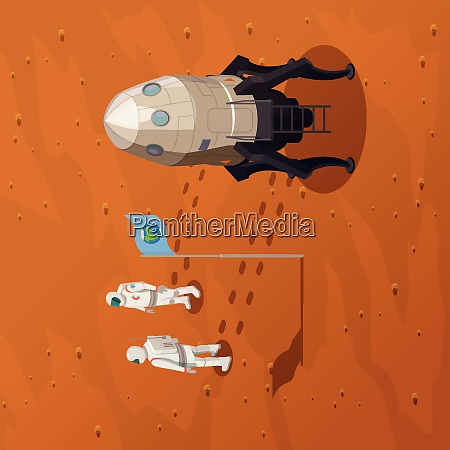 mars exploration design concept with two