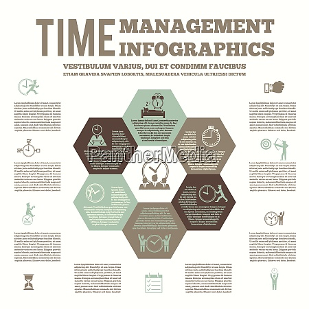 time management infografic layout poster with