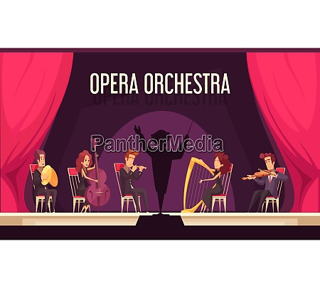 theater opera orchestra onstage performance with
