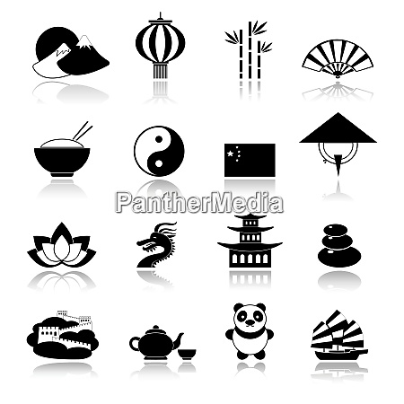 china travel traditional culture symbols black