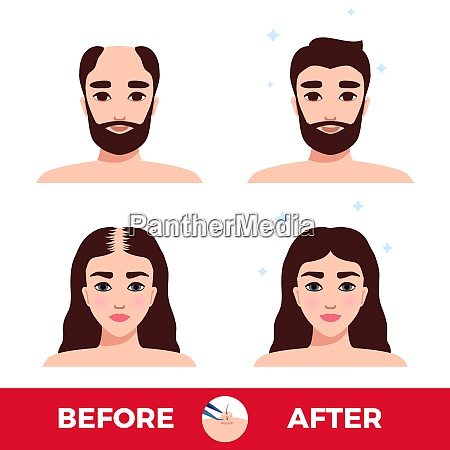 man and woman before and after