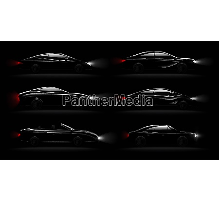 lightened cars in darkness realistic 6