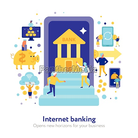 internet, banking, composition, with, electronic, finance - 27160774