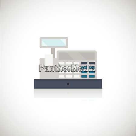 cash register flat icon isolated on
