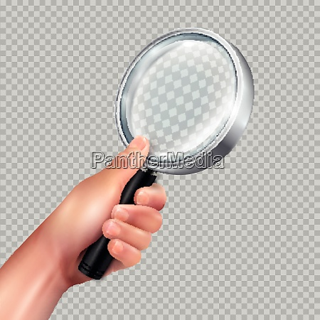 classic magnifying glass round metal frame